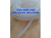 Ống silicone trắng trong phi 12x18mm